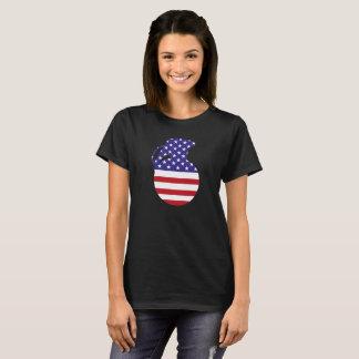 Hand Grenade American Flag Women's Basic T-Shirt