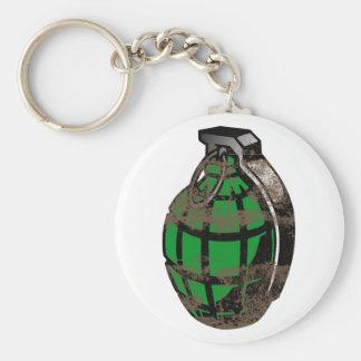 Hand Grenade Basic Round Button Keychain