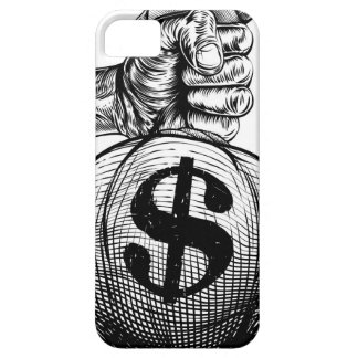 Hand Holding a Dollar Sign Burlap Sack Money Bag iPhone 5 Cases