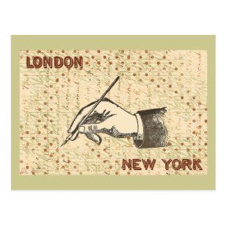 Hand Holding Pen Postcard