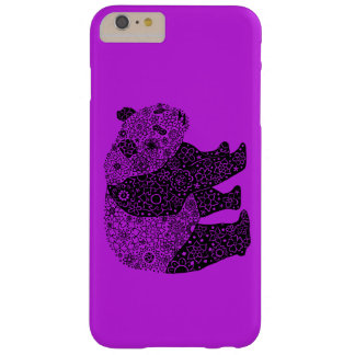 Hand Illustrated Artsy Floral Panda Bear Barely There iPhone 6 Plus Case