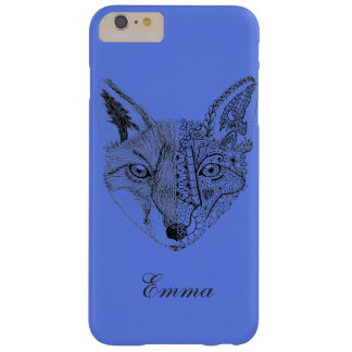 Hand Illustrated Artsy Fox Barely There iPhone 6 Plus Case