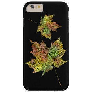 Hand Illustrated Artsy Maple Leaf Tough iPhone 6 Plus Case
