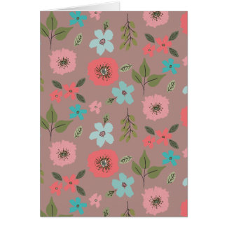 Hand Illustrated Floral Print Card