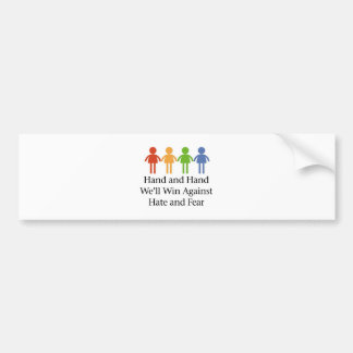 Hand in Hand Against Hate and Fear Bumper Sticker