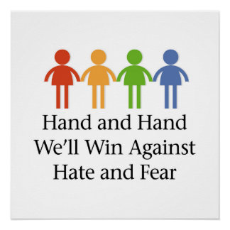 Hand in Hand Against Hate and Fear Perfect Poster