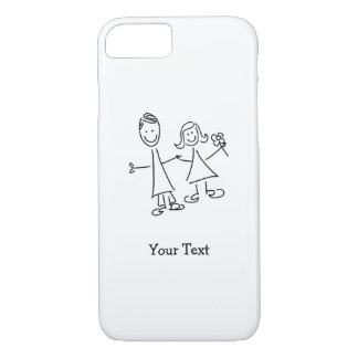 Hand in Hand Lovers Drawing iPhone 8/7/6/5 Case