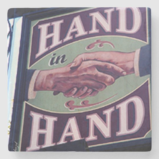Hand In Hand, Virginia Highland Atlanta Marble Sto Stone Beverage Coaster