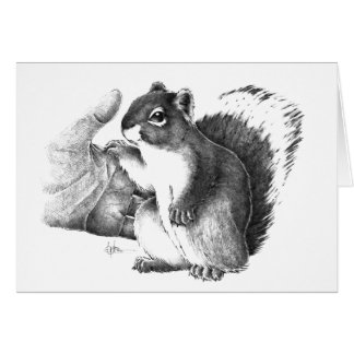 Hand in Paw Note Card