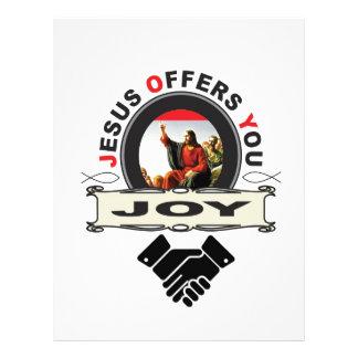 hand jesus joy letterhead