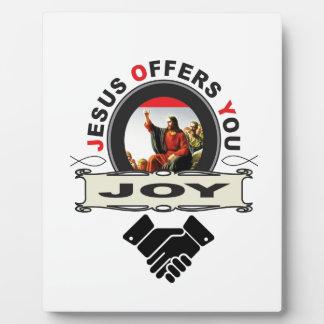 hand jesus joy plaque