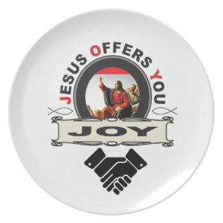 hand jesus joy plate