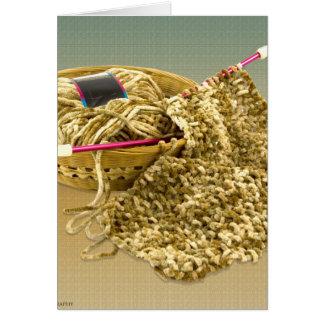 Hand Knit Chenille Yarn Card