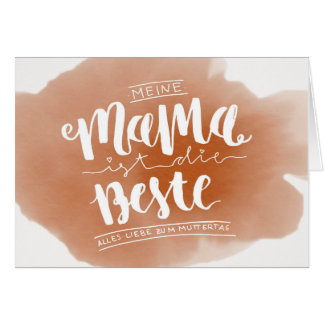 Hand Latvian ring Mother's Day Card