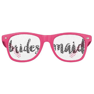Hand Lettered Bridesmaid Swag Party Glasses