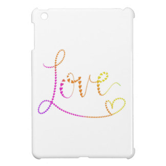 Hand Lettered Hearts Love iPad Mini Covers