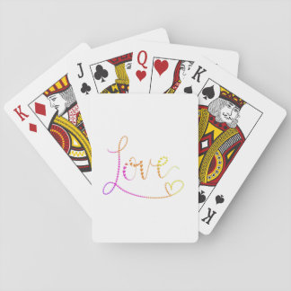 Hand Lettered Hearts Love Playing Cards