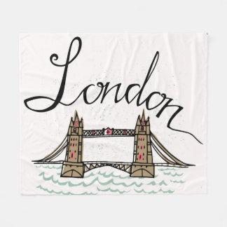 Hand Lettered London Bridge Fleece Blanket