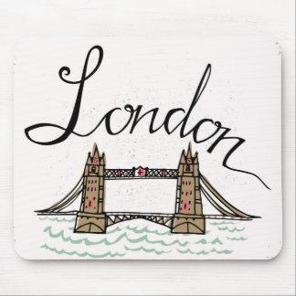 Hand Lettered London Bridge Mouse Pad