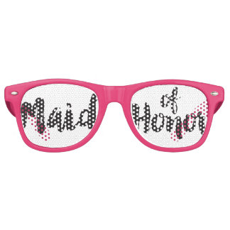 Hand Lettered Maid of Honor Swag Party Glasses