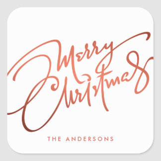 HAND-LETTERED MERRY CHRISTMAS | HOLIDAY STICKER