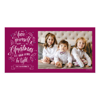 Hand Lettered Merry Li'l Christmas One Sided Photo Greeting Card