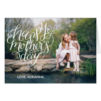Hand Lettered Mother's Day Typography Photo Card