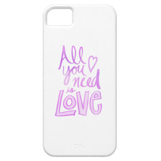 Hand lettered, pink love iPhone SE case