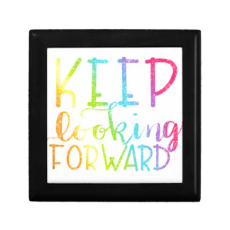 Hand Lettered Rainbow Keep Looking Forward Gift Box