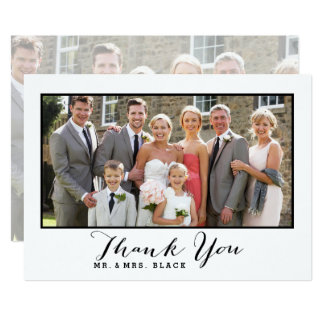 Hand Lettered Script | Wedding Photo Thank You Card