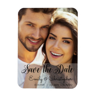 Hand Lettered Script Wedding Save the Date Magnet