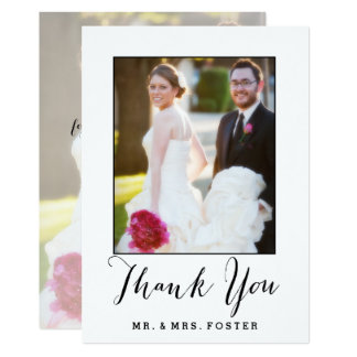 Hand Lettered Script | Wedding Thank You Photo Card