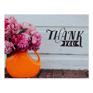 "hand lettered ""Thank you"" card - post card size"