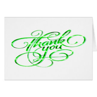 Hand Lettered Thank You Note Card