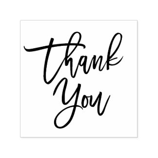 Hand Lettered Thank You Script Self-inking Stamp