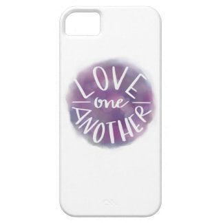 Hand-Lettered Watercolor Bokeh Love One Another Case For The iPhone 5