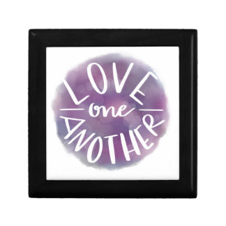 Hand-Lettered Watercolor Bokeh Love One Another Gift Box