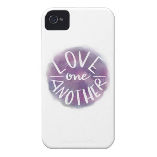 Hand-Lettered Watercolor Bokeh Love One Another iPhone 4 Case-Mate Case