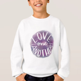 Hand-Lettered Watercolor Bokeh Love One Another Sweatshirt
