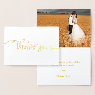 Hand Lettered Wedding Thank You Greeting Card