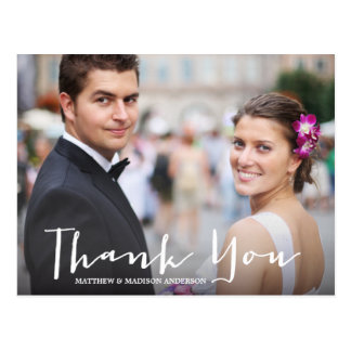 HAND LETTERING | WEDDING THANK YOU POST CARD
