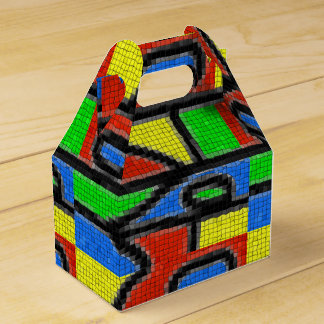 Hand-made mosaic, modern art. favor box