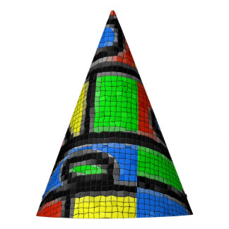 Hand-made mosaic, modern art. party hat