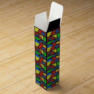 Hand-made mosaic, modern art. wine box