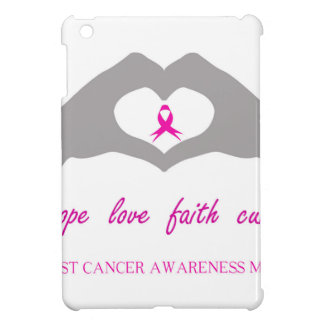 Hand making heart sign with breast cancer ribbon iPad mini cover