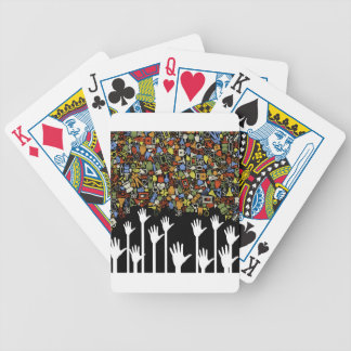 Hand medicine bicycle playing cards