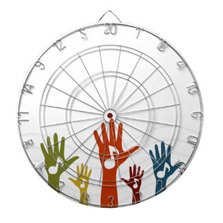 Hand music dartboard