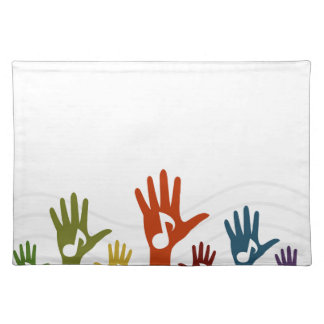 Hand music placemat