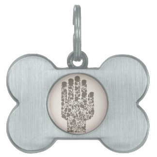 Hand of a part of a body pet name tag