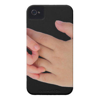 Hand of baby touching hand of child iPhone 4 Case-Mate cases